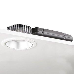 GLamOX LED downlight D70-RF155 HF 4000K biela/strieborná