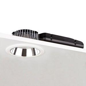 GLamOX Downlight D70-RF155 DALI striebro/biela 3000K 14W