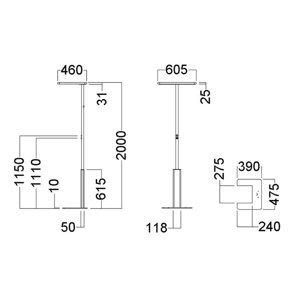 GLamOX Stojaca LED lampa LINEA-F stmievateľná, CCT, biela