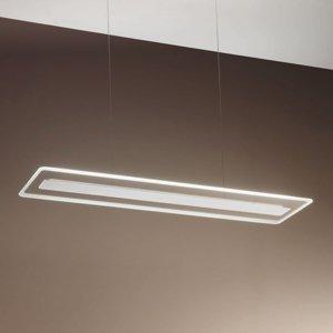 Linea Light Závesné LED Antille, sklo, obdĺžnikové, biele