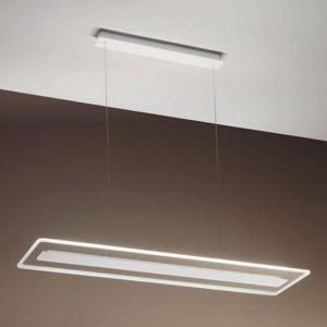Linea Light Závesné LED Antille, sklo, obdĺžnikové, chróm
