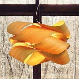 LZF LamPS LZF Link závesná lampa Ø 69cm, žltá