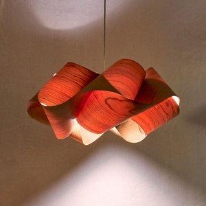 LZF LamPS LZF Swirl závesná lampa Ø 54cm, orech prírodný