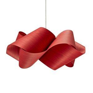 LZF LamPS LZF Swirl závesná lampa Ø 54cm, červená
