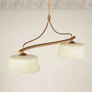 Lam Závesná lampa Alessio, trám, 2-plameňová