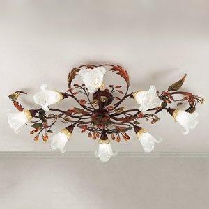 Lam Florentské stropné svietidlo Zarah, 8-plameňové
