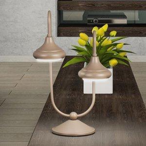 Lam Stolná lampa 1680/2L 2-pl. havana béžová