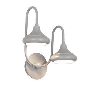 Lam Nástenné svetlo 1680/2A 2-plameňové, sivé