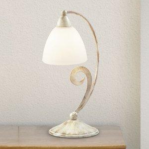 Lam Stolná lampa 1730/1L biela satinovaná slonovina