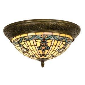 Clayre & Eef Okrúhle stropné svietidlo Kimberly štýl Tiffany