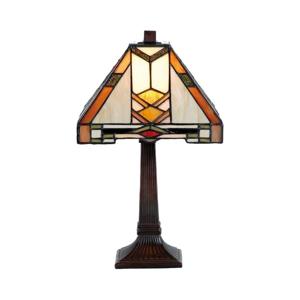 Clayre & Eef Vzorovaná stolná lampa Eliazar v štýle Tiffany