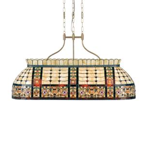 Clayre & Eef Závesná lampa Gani – štýl Tiffany