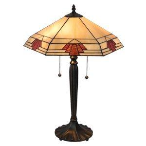 Clayre & Eef Stolná lampa 5202 v štýle Tiffany, 44x38cm