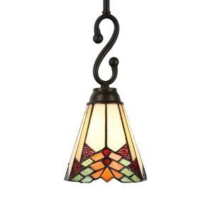 Clayre & Eef Závesná lampa 5965 v dizajne Tiffany, 1-plameňová