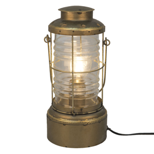 Clayre & Eef Stolná lampa 559, lucerna, starožitné zlato