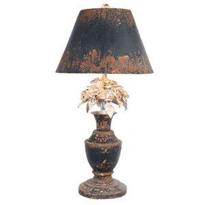 Clayre & Eef Stolná lampa 186 s kvetinovou ozdobou