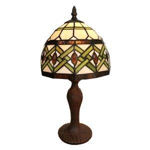 Clayre & Eef Stolná lampa 6027 sklenené tienidlo dizajn Tiffany