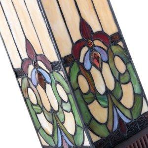 Clayre & Eef Stolná lampa 5907, farebné sklo v štýle Tiffany