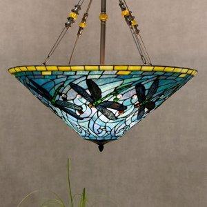 Clayre & Eef Závesná lampa 5975 farebný Tiffany design