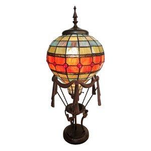 Clayre & Eef Dekoračná lampa 6016 teplovzdušný balón Tiffany