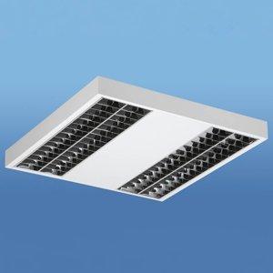 Lenneper Lak stropné LED svietidlo s rastrom Darklight