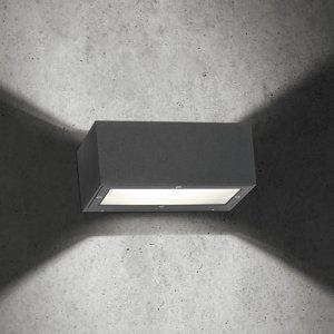 LCD Nástenné svietidlo 1500 pre exteriér, grafitové