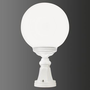 LCD Soklové svietidlo 1131 guľové tienidlo, biele