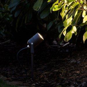 LCD LED svetlo s hrotom do zeme 5018, čierne IP65
