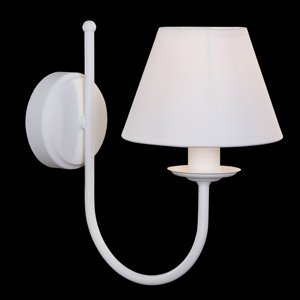 Lis Poland Nástenné svietidlo Bona, 1-plameňové, biele