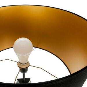 Lis Poland Stojaca lampa Tago, trojnožka, čierna/zlatá