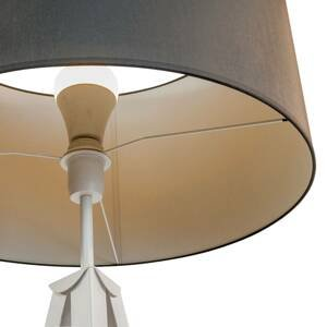 Lis Poland Stojaca lampa Tago, trojnožka, biela, sivé/biele