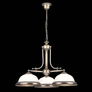 EULUNA Závesná lampa Torio, ručne maľovaná, 3-pl.