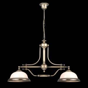 EULUNA Závesná lampa Torio, ručne maľovaná, 2-plameňová