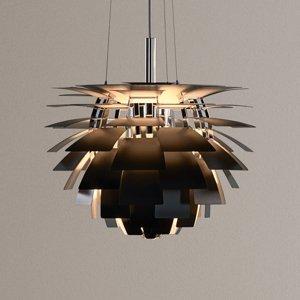 Louis Poulsen Louis Poulsen PH Artichoke záv. lampa čierna 48cm