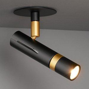 LDM LDM Kyno LED stropný držiak zapustená čierny/zlatý