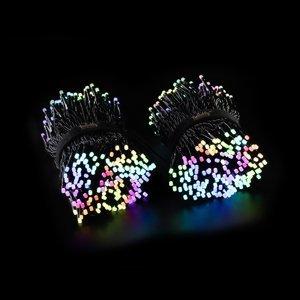 Twinkly Svetelná reťaz Twinkly RGB, čierna, 600 zdr., 48m