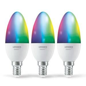 LEDVANCE SMART+ LEDVANCE SMART+ WiFi E14 5W sviečka RGBW 3 kusy