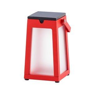 LES JARDINS Solárna LED lucerna Tinka prenosná, červená