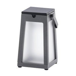 LES JARDINS Solárna LED lucerna Tinka prenosná, sivá