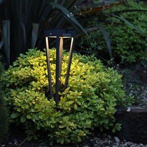 LES JARDINS Solárna LED pochodeň Tinka, 52cm vysoká, muškát