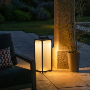 LES JARDINS Solárna LED lucerna Tradition, výška 65cm