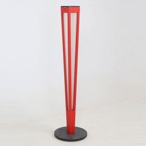 LES JARDINS Solárna LED pochodeň Tinka snímačom 120cm červená