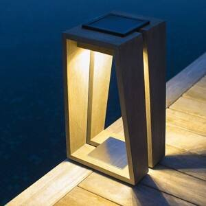 LES JARDINS Solárna LED lucerna Skaal so snímačom, 39cm