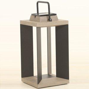 LES JARDINS Solárna lucerna Teckalu Duratek/alu čierna 45,5cm