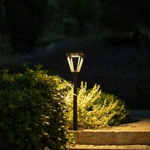 LES JARDINS Solárne chodníkové LED Metro so snímačom, sivé
