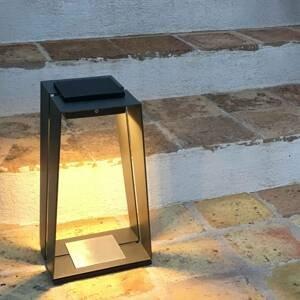 LES JARDINS Solárna LED lucerna Skaal z hliníka, snímač, 40cm