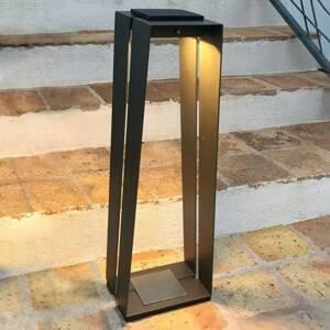 LES JARDINS Solárna LED lucerna Skaal z hliníka, snímač, 70cm