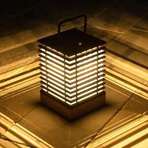 LES JARDINS Solárna LED lucerna Tekura so snímačom výška 37cm