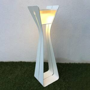 LES JARDINS Solárne LED svietidlo Osmoz z hliníka, biele