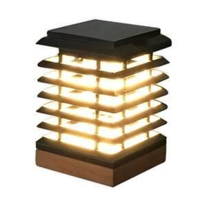 LES JARDINS Solárne LED svietidlo Tekura z teakového dreva